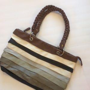 Handbags - Vegan striped shoulder bag